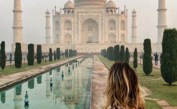 Ich vor dem Tadj Mahal. Wer hätte das gedacht?